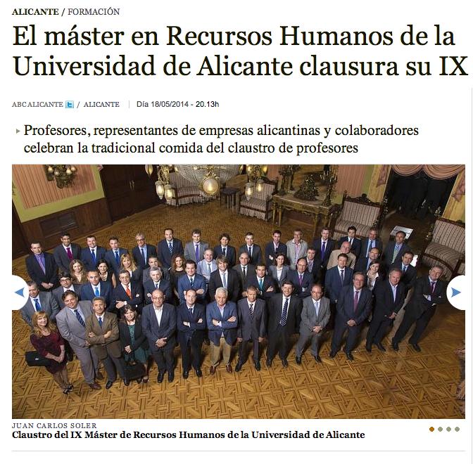 empleo alicante recursos humanos
