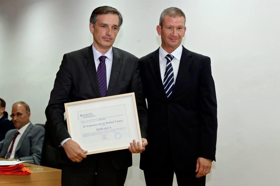 Premios Universidad Empresa 2014 Francisco Bartual Hidraqua