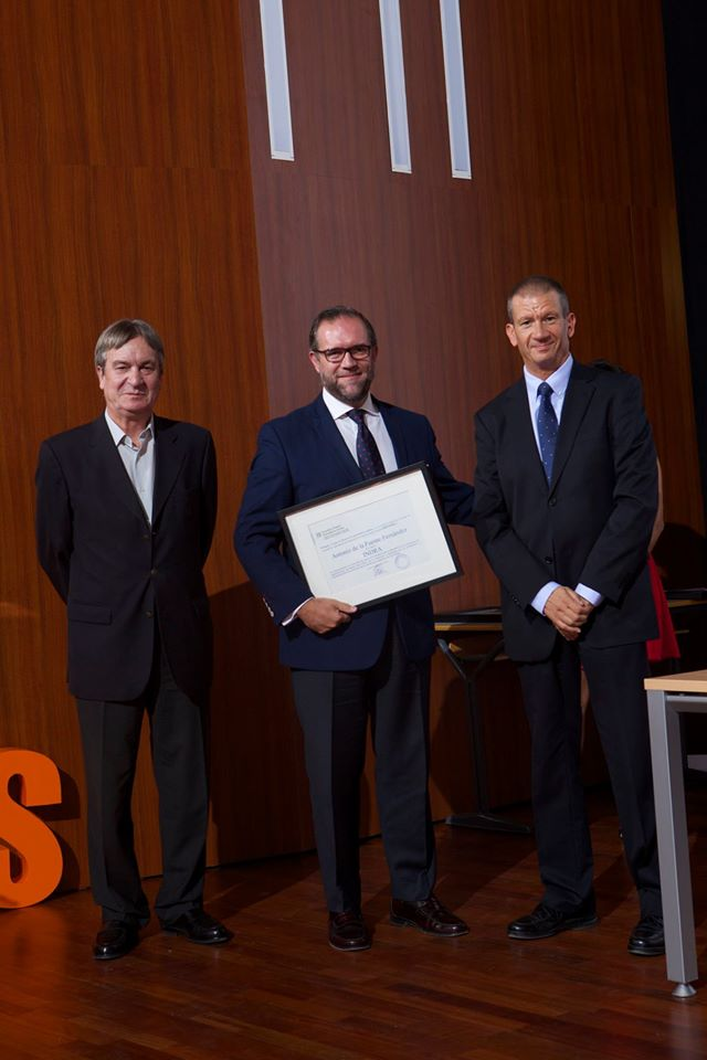 Premios Empresa Universidad 2016 Antonio de la Fuente Grupo Indra