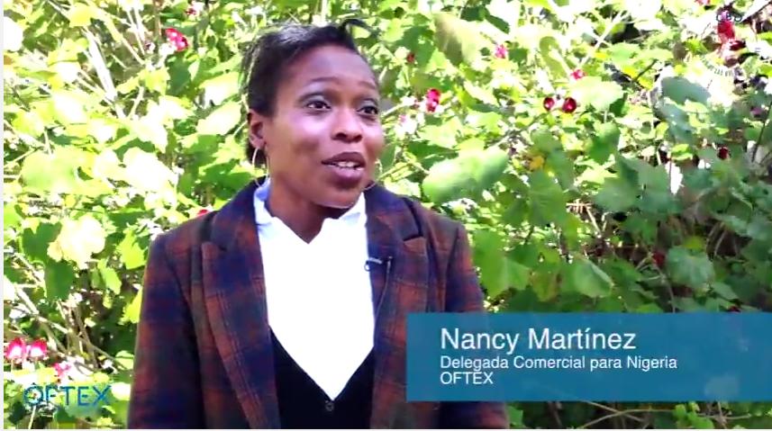 Nancy Martinez delegada comercial OFTEX para Nigeria