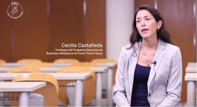 cecilia castaneda profesora del programa executive de Business Intelligence en Excel power query universidad de alicante